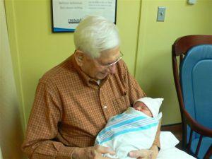 Delaney & Great-Grandpa Manuel