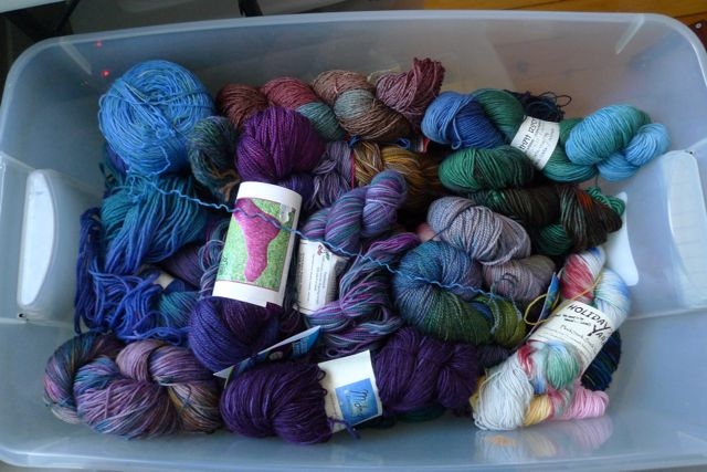 This is...almost...my entire sock yarn stash
