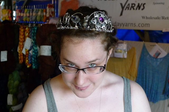 "Custom Tiara made for Jesh, 2012.  ""Diadem for a Steam-Punk Mermaid""."