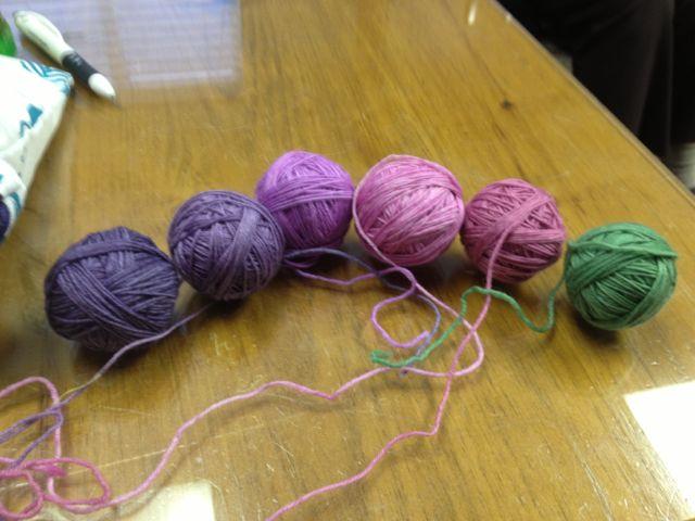 balls of colour for leftie