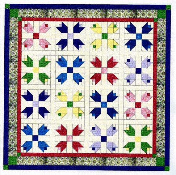 tulip quilt square