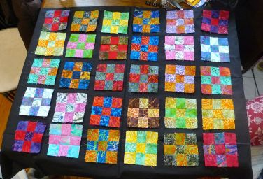 30 of the squares, before framing (total of 50 squares made)