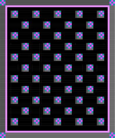 11 x 9 on diagonals with border