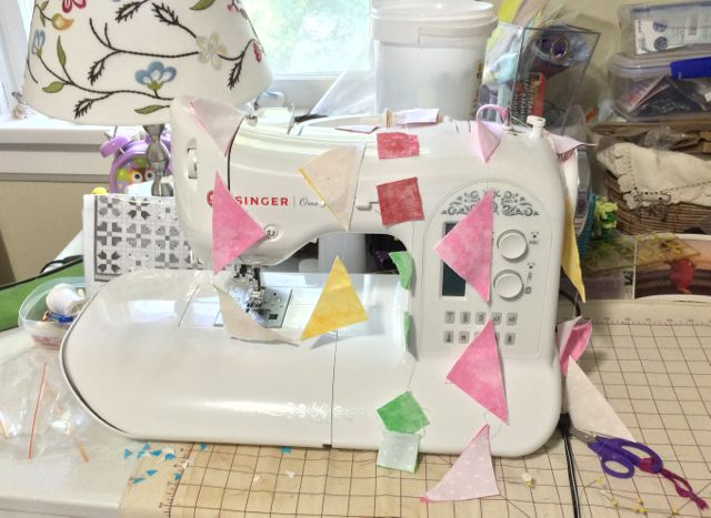 My new sewing machine loves to do strip piecing. Fortunately, so do I.
