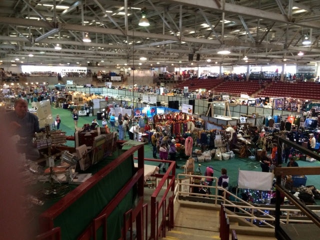 The main floor of the arena at SAFF/NC. Yes, I am taking the photo from the second story of booths. Yes, it is HUGE.